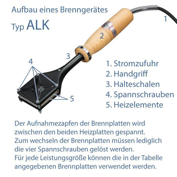 """""""ALK"""" Elektro-Brennstempel"""